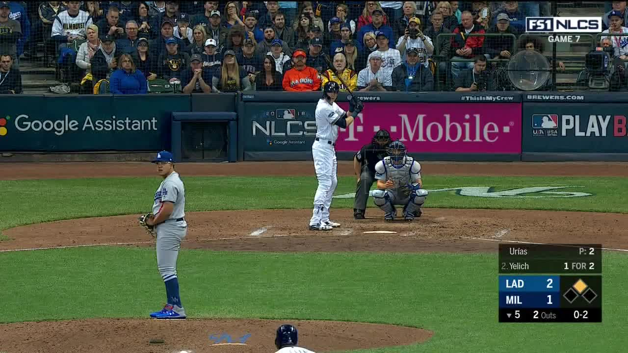 Los Angeles Dodgers, Milwaukee Brewers, baseball, boomsports, MLB Playoff: Game 7: Los Angeles Dodgers at Milwaukee Brewers | Fox Sports 1 | Clippit GIFs