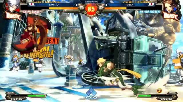 Watch EVO 2017 GG XRD REV2 TOP 8 (TIMESTAMP) Tomo Omito Samitto Nage Kazunoko PurePure 310 Teresa GIF on Gfycat. Discover more fgc, ps4, xbox GIFs on Gfycat