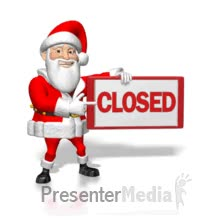 Watch and share Santa Points To Closed Sign PowerPoint Animation GIFs on Gfycat