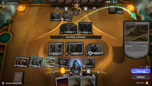 Watch Sacrificing Desert GIF by KingNothing2000 (@kingnothing2000) on Gfycat. Discover more Gaming, MTG Arena, kingnothing2000 GIFs on Gfycat