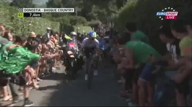 Watch First images: Adam Yates attacking! GIF by @herhor on Gfycat. Discover more peloton GIFs on Gfycat