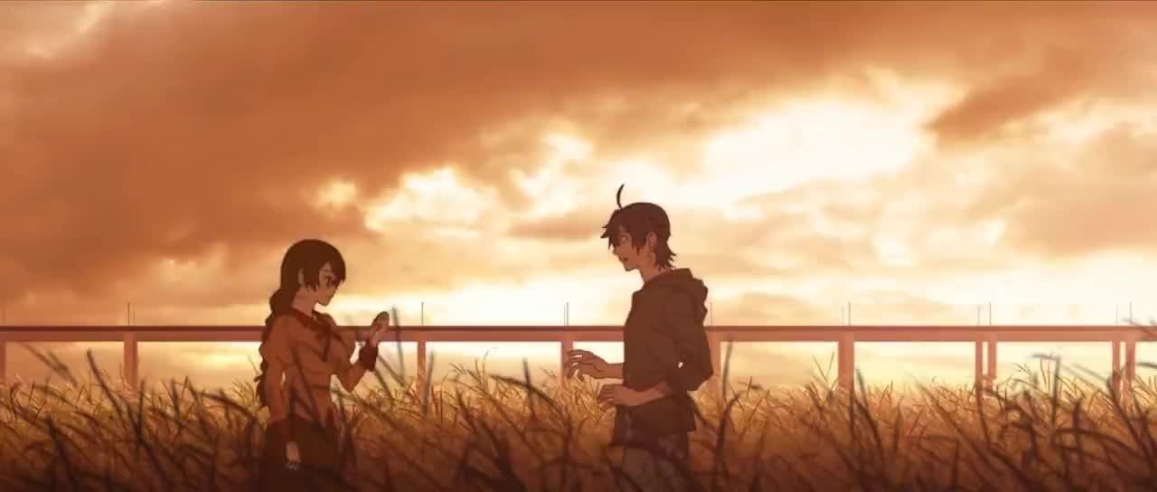 Hanekawa gives Araragi her pantsu GIFs