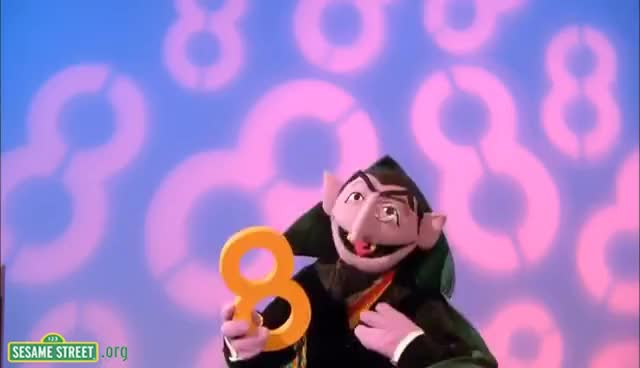 Watch and share Sesame Street: The Count Sings Of 8 GIFs on Gfycat