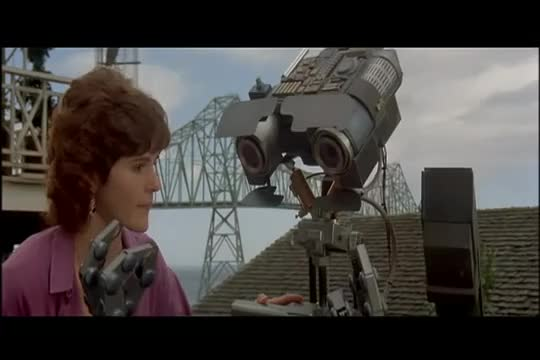 Watch Short Circuit - No Disassemble! GIF by The Livery of GIFs (@thegifery) on Gfycat. Discover more circuit, clip, disasssemble, funny, movie, robot, short GIFs on Gfycat