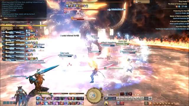 Ninja, Astrologian, and Machinist LB3 in gif form! (reddit) GIF