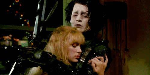 hug, johnny depp, winona ryder, 4. Johnny Depp and Winona Ryder GIFs
