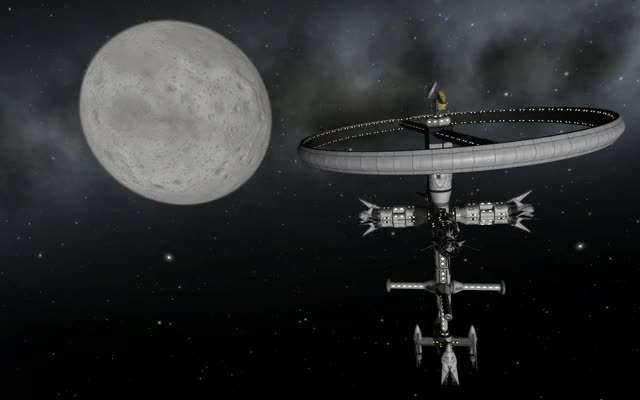 Watch and share Rotating Mun Station Shiny GIFs by kerbalplops on Gfycat