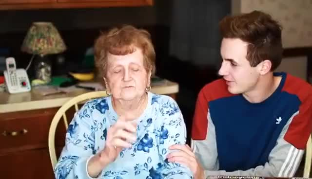 "Watch and share Grandma Reacts To ""Cash Me Outside How Bow Dah"" Girl GIFs on Gfycat"
