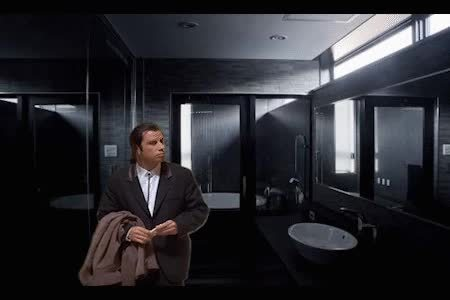 confusedtravolta, MRW looking for the light switch in an unfamiliar bathroom GIFs