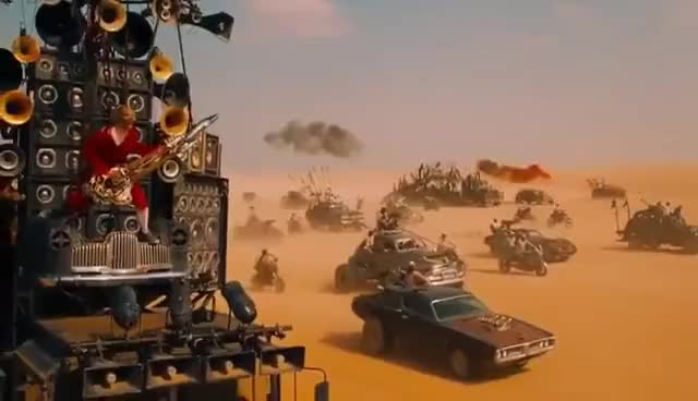Watch and share Mad Max Fury Road Guitar Guy (Full Scenes) Good Quality GIFs on Gfycat