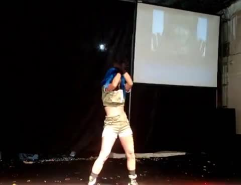 2009, 97, Another, COSPLAY, DIE, Fighters, Heidern, Leonaheidern, anime, carioca, day, king, kof, leona, livre, madonna, ranking, rcr, rio, - Leona Heidern KOF 97 - Dancing GIFs