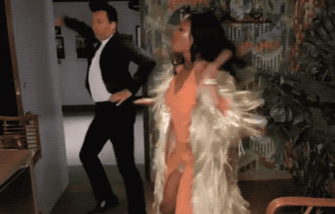 celebrate, celebrating, crazy, dance, dancing, epic, excited, exciting, fallon, hadish, jimmy, lol, night, party, partying, saturday, show, tiffany, tonight, woohoo, Tiffany Hadish and Jimmy Fallon GIFs