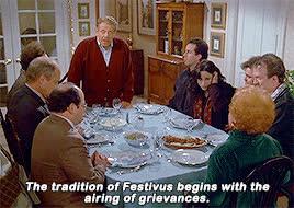 festivus, frank costanza, grievance, holiday, holidays, jerry stiller, seinfeld, Festivus Airing of Grievances GIFs