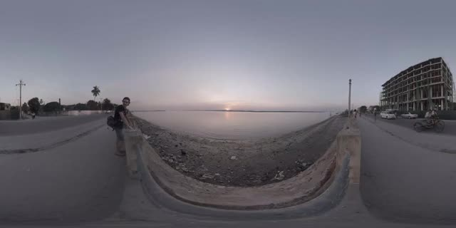 Watch and share Sunset Waterfront Waves - Mawlamyine, Burma - 360 Cinemagraph - Pandorama360 At YouTube.com GIFs on Gfycat