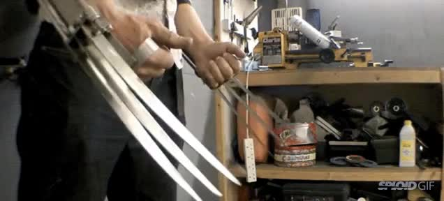 Watch and share Guy Builds Operational Wolverine Claws. GIFs on Gfycat