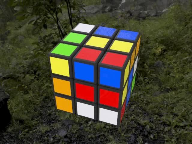 Watch and share Rubik's Cube GIFs by arrow_raider on Gfycat