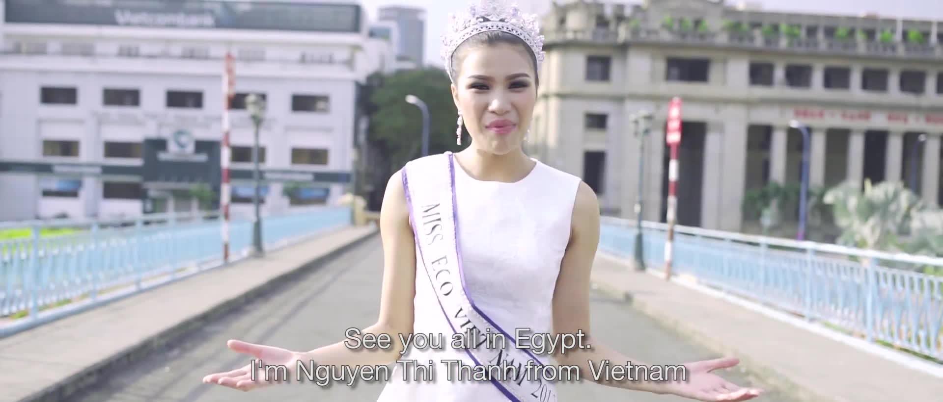 Bấp chấp bị tước danh hiệu, Nguyễn Thị Thành vẫn tự tin thi Miss Eco International 2017