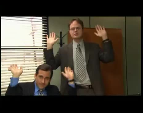 dwight, michael scott, raise the roof, the office, raise the roof- the office GIFs