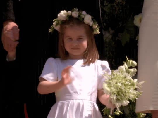 bye, farewell, goodbye, hello, hi, princess charlotte, royal wedding, wave, waving, Royal Wedding Princess Charlotte GIFs