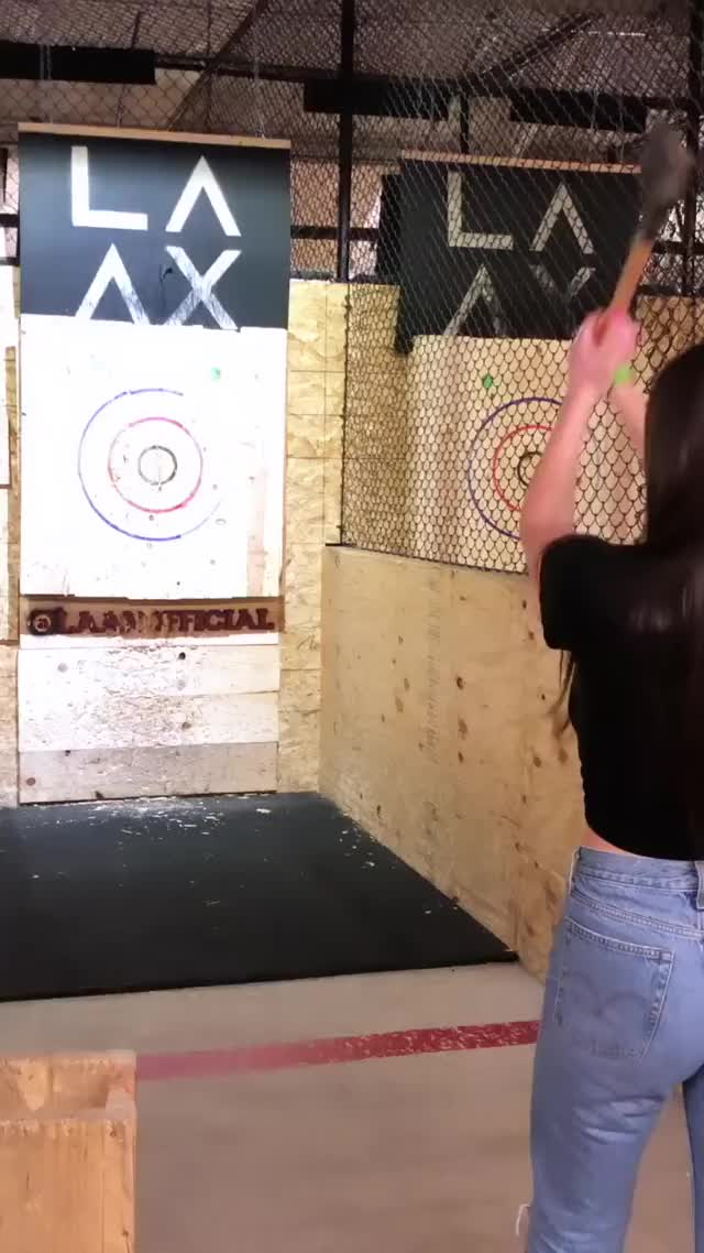 Watch and share Jessica Bartlett GIFs and Axe Throwing GIFs by Pinder Glover phDD on Gfycat