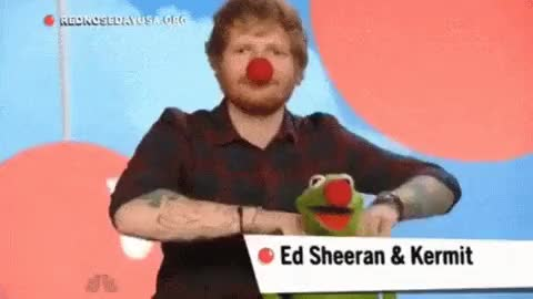 Watch and share Red Nose Day 2015 GIFs and Kermit The Frog GIFs on Gfycat