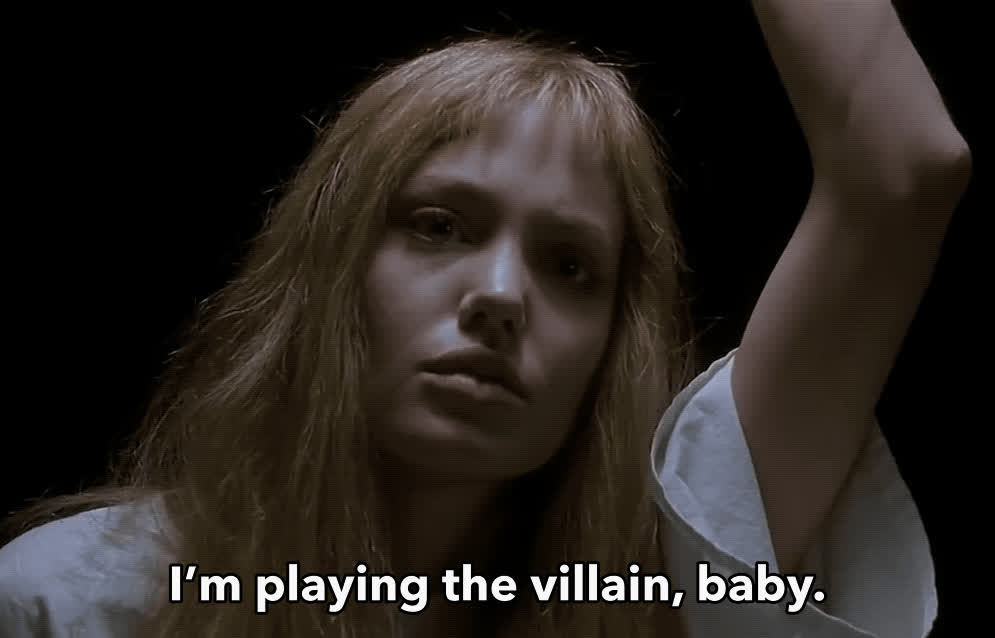 Angelina Jolie, crazy, girl interrupted, lisa, villain, Angelina Jolie Crazy GIFs