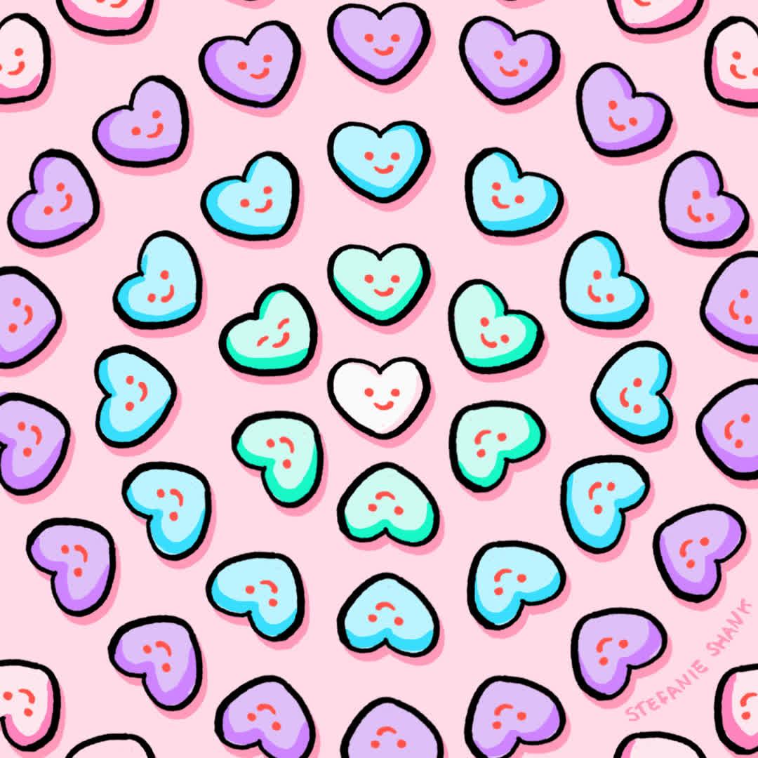 hearts, love, stefanie shank, valentines, Valentine Hearts GIFs