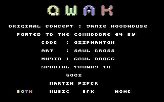 Watch C64 Game - Qwak GIF on Gfycat. Discover more 64, amiga, amstrad, atari, c16, c64, commodore, ending, epyx, games, german, gremlin, konami, longplay, namco, retro, spectrum, vic-20, video, walkthrough GIFs on Gfycat