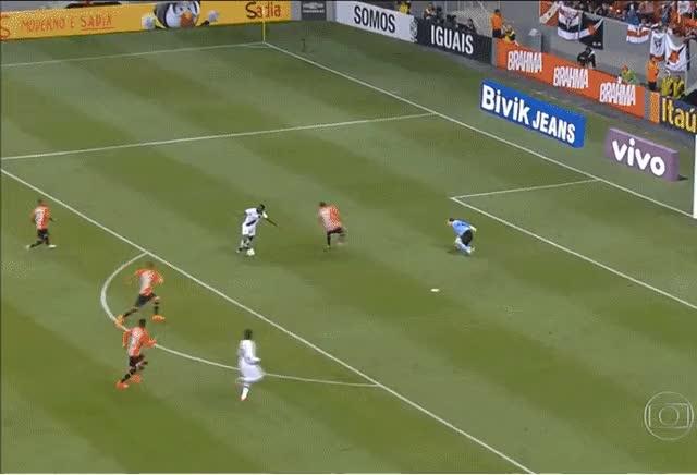 Watch and share GIF - Riascos Perde Segundo Gol Contra O São Paulo (Foto: Reprodução) animated stickers on Gfycat