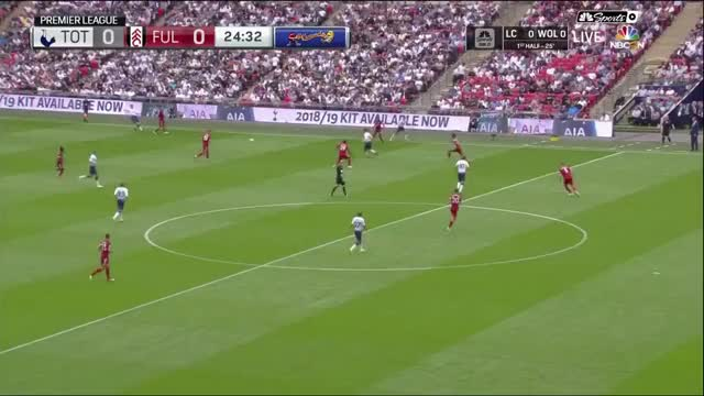 Build up play + Dele flick AA vs Fulham prem 18/08/2018