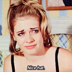 Watch and share Melissa Joan Hart GIFs and Hat GIFs on Gfycat