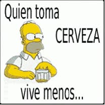 Watch and share Quien Toma Cerveza Vive Menos... animated stickers on Gfycat