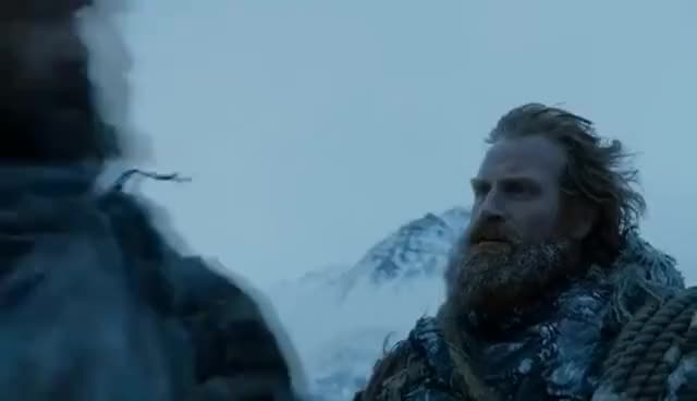 Watch Game of Thrones 7x06 - Tormund and The Hound Talk About Brienne GIF on Gfycat. Discover more Kristofer Hivju GIFs on Gfycat