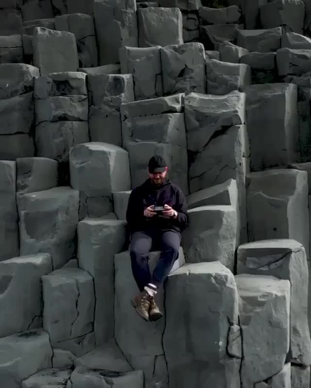 Watch and share Basalt Columns In Reynisfjara Beach, On The Southern Coast Of Iceland GIFs by pepethefrqg on Gfycat