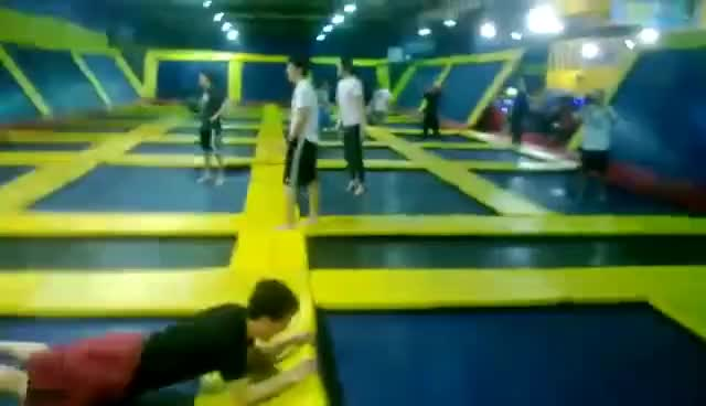 Watch and share Trampoline GIFs and Jumping GIFs on Gfycat