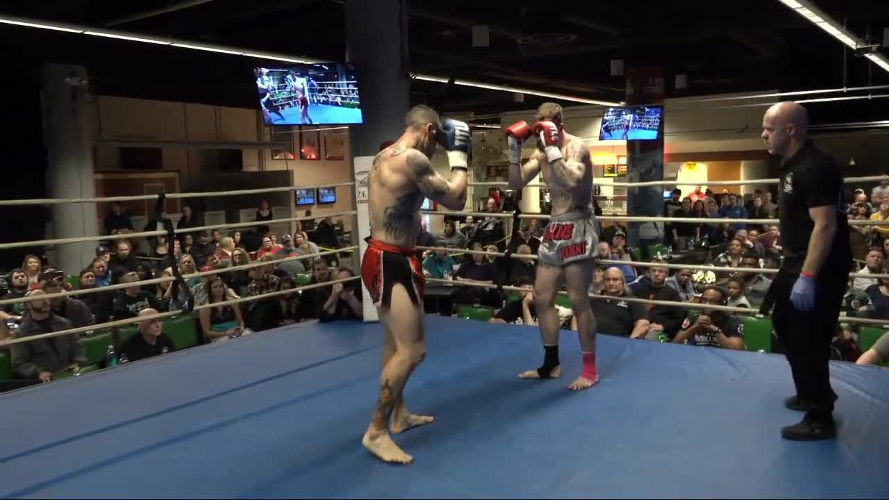 Fighting, Fights, MMA, Muaythai, TKO, UFC, docotorstoppage, Mecca XI Thomas Jenkins def Jacob Rodriguez with vicious elbow, causing a doctor stoppage GIFs