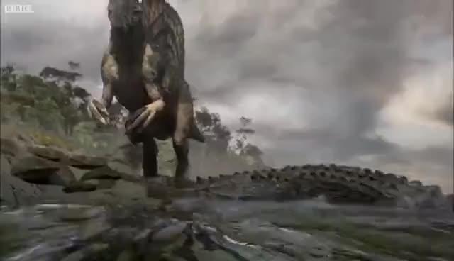 Watch and share Spinosaurus GIFs on Gfycat