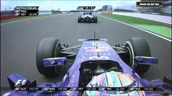 highlightgifs, Red Bull's Vettel overtakes McLaren's Magnussen (x-post: formula1gifs) (reddit) GIFs