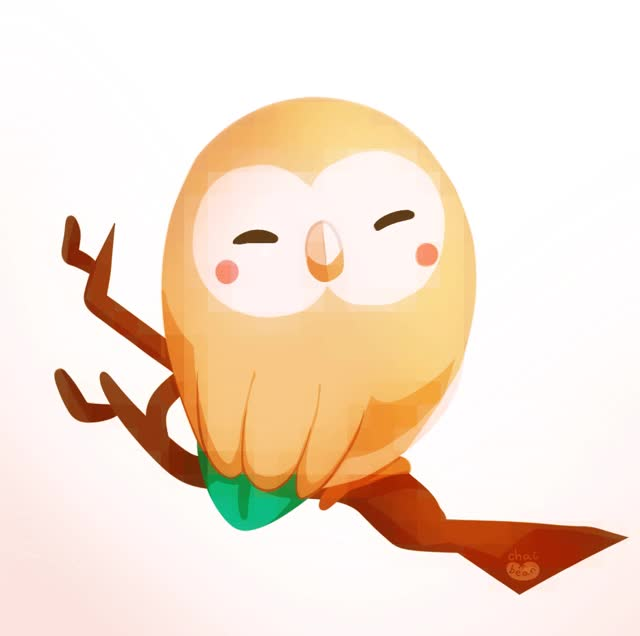 Watch and share Chai-bean:rowlet!!!!!! GIFs on Gfycat