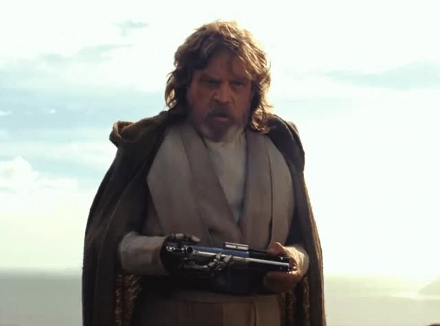 Watch this star wars GIF by The GIF Smith (@sannahparker) on Gfycat. Discover more luke skywalker, mark hamill, star wars, star wars the last jedi, the last jedi GIFs on Gfycat