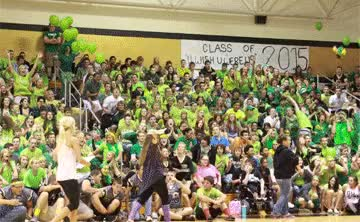 Watch and share On September 14, During The Fall Pep Assembly, The Class Of 2015 Showed Their School Spirit For The Spirit Meter. GIFs on Gfycat