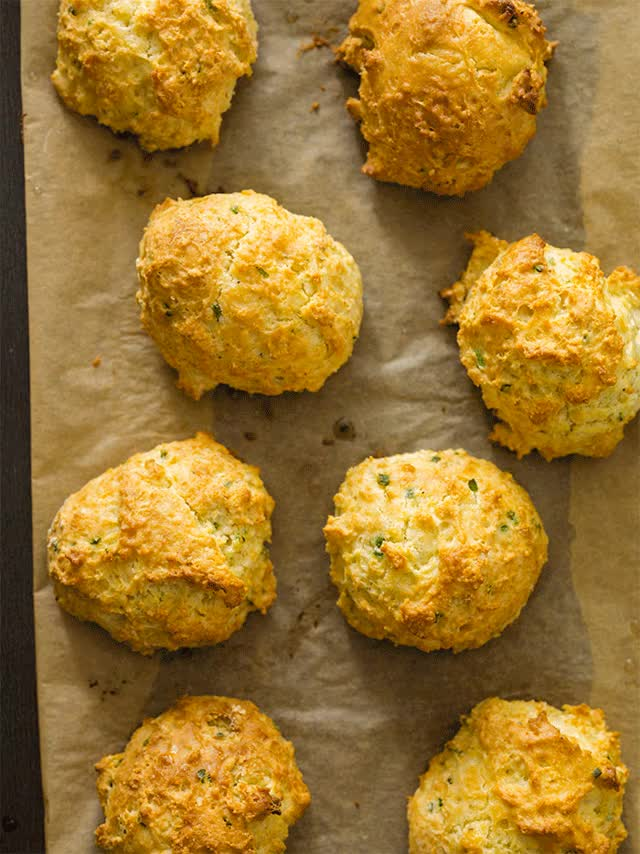 Watch and share Sour Cream Chive Biscuits GIFs on Gfycat