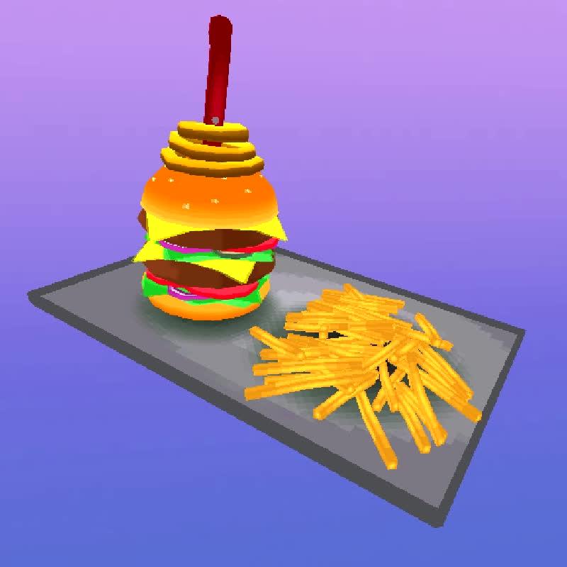 burger, food, low_poly, low poly burger GIFs