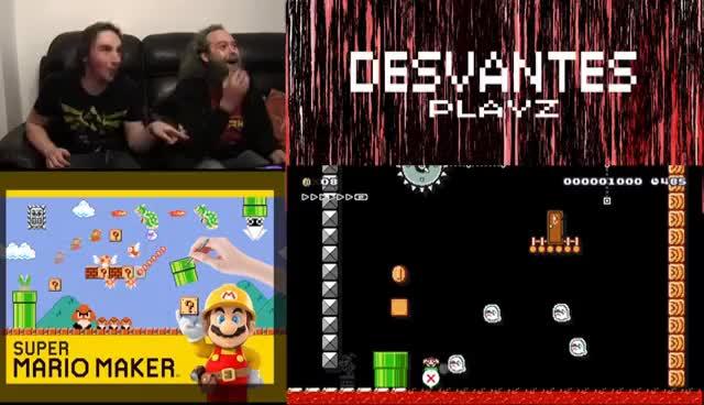 Desvantes Playz Episode 1  - Mario Maker GIFs