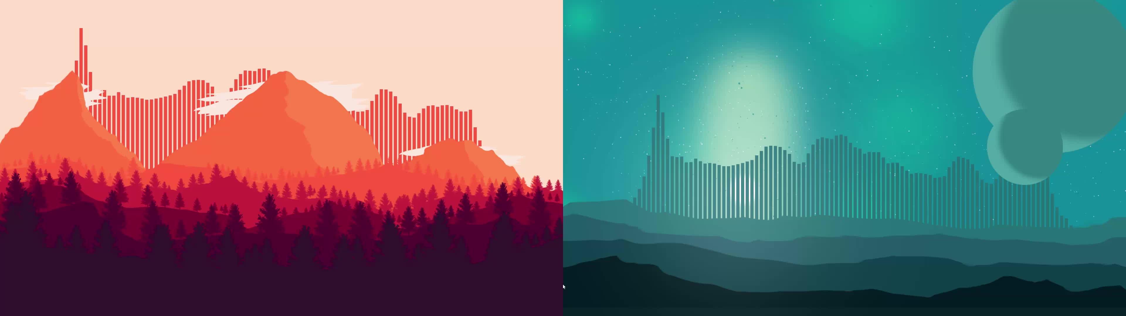 rainmeter, Firewatch+Planetary Annihilation minimalistic setup GIFs