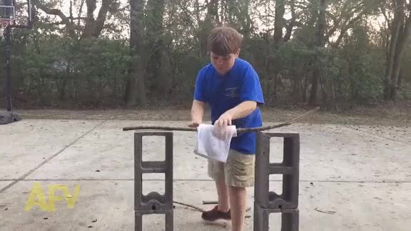 Watch Kid tries breaking cinderblocks GIF by @seniorgoon on Gfycat. Discover more IdiotsFightingThings, funny, reddit GIFs on Gfycat