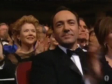 Watch this trending GIF on Gfycat. Discover more academy awards, american beauty, billy crystal, kevin spacey, oscars GIFs on Gfycat