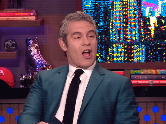 andy cohen, oh really, ok, omg, shook, watch what happens lives, wow, Andy Cohen OMG GIFs