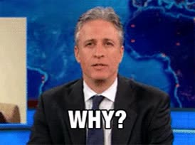 Watch this why GIF by Reaction GIFs (@sypher0115) on Gfycat. Discover more Jon Stewart, explain, question, why? GIFs on Gfycat