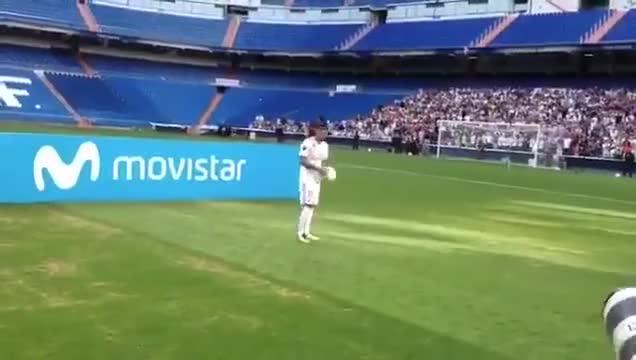 Watch and share Theo Hernandez Kick-ups Fail At Real Madrid Presentation. GIFs by minieri on Gfycat